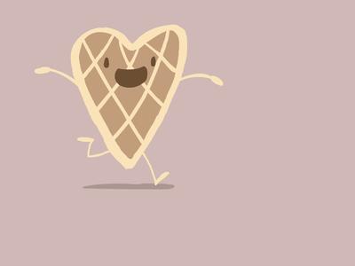 Three dribbble invites! dribbbleinvites dribbbleinvite animation waffle
