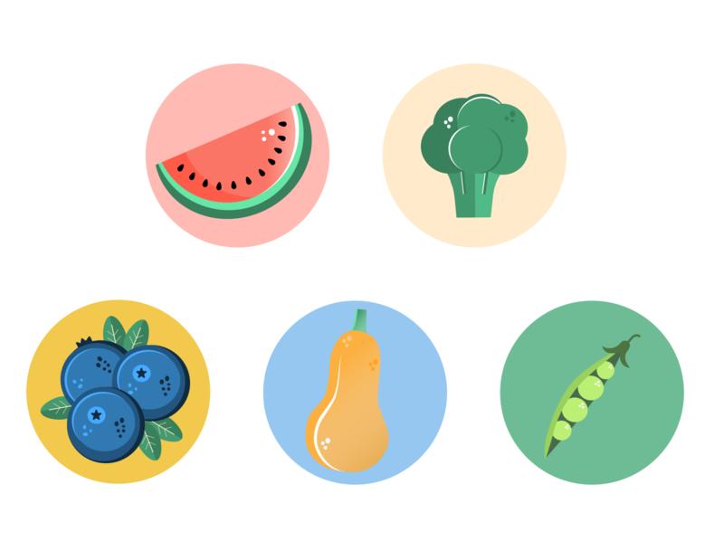 Produce Vector minimal design branding flat web icon vector logo illustration