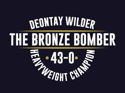 Deontay Wilder Practice Badge