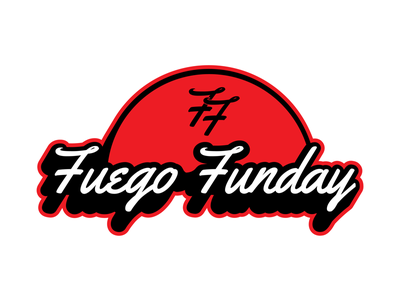 Fuego Funday Badge logo branding brand market merchandise merch adobe graphic design graphic badge