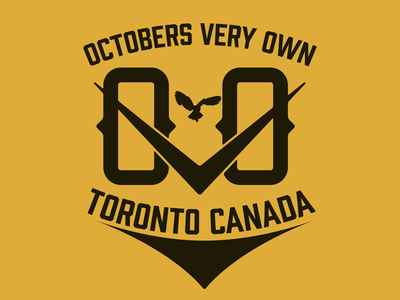 OCTOBERS VERY OWN Badge (practice) logo lockup octobers very own drake ovo brand merch merchandise logo branding badge