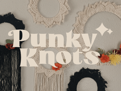 Punky Knots Rebrand brand logo adobe branding design badge design graphic design merchandise merch branding badge