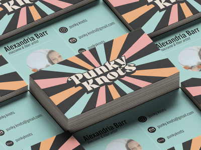 Punky Knots Rebrand design graphic design adobe brand badge design branding design branding logo merch badge
