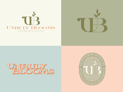 Unruly Blooms Branding Pt2 ui illustration design merchandise graphic design brand logo branding merch badge