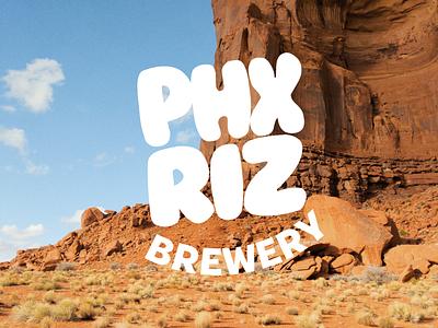 PHX RIZ Brewery Branding - Main Assets beer brewery illustration design merchandise brand logo branding merch badge graphic design