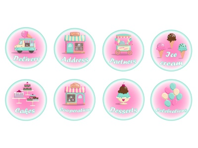 Sweet icons design branding illustrator graphic design illustration art icon vector flat logo