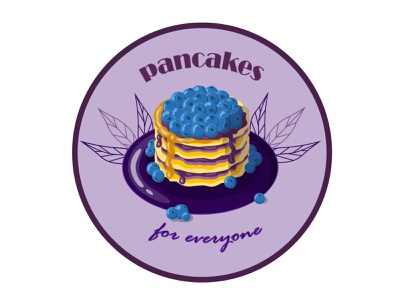 Pancakes logo pancakes illustrator vector icon flat logo graphic design illustration design art