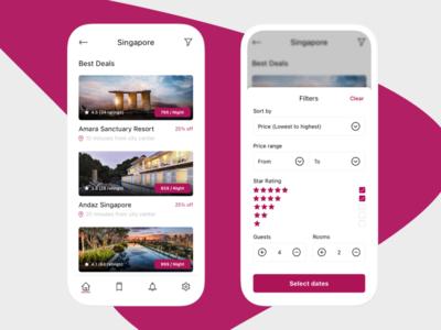 Hotel booking App concept hotel booking hotel booking ui design app