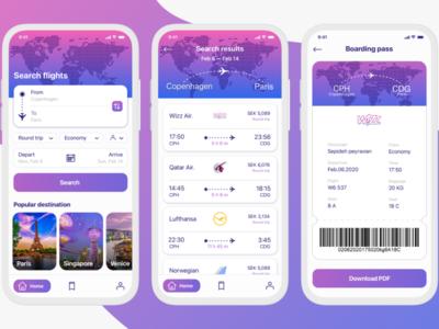 Flight reservation App concept flights flight ticket flight booking booking ui design app