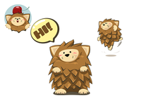 Stickers of Hedgehog Adventure