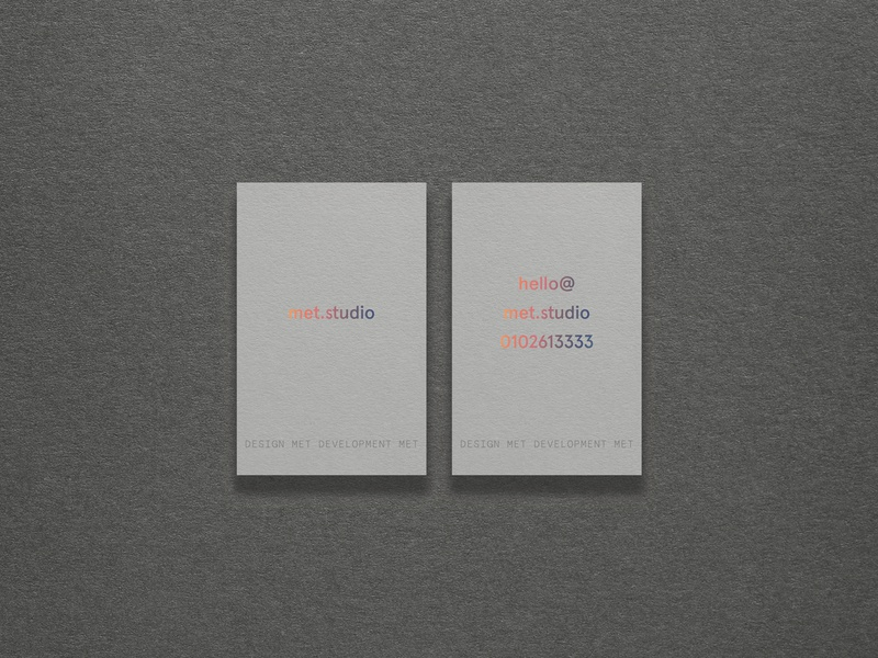 Met business cards graphic design clean design branding foil stamp embossed emboss holographic foil real grey colorplan clean business card simple design businesscard business card design business cards