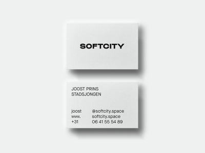Softcity Businesscards real estate branding graphic design clean design branding business card design business cards business card businesscard