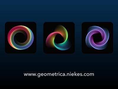 Geometric line art generator | geometrica.niekes.com assetstore graphicdesign icon designer icon generator spirograph icon design icons algoritm art abstract art