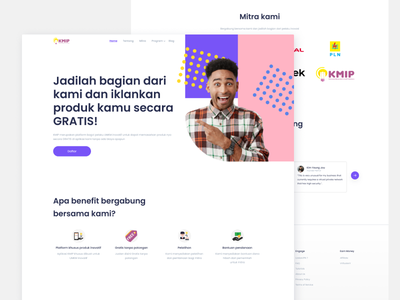 Landing Page for KMIP illustration mobile design travel app mobile app design mobile app development appdevelopment app design android app development