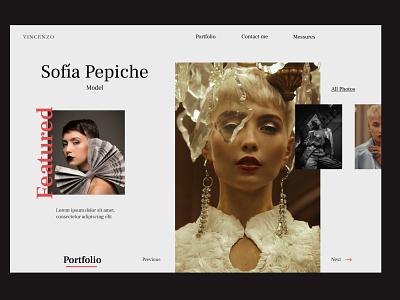 Model portfolio landing page design portfolio fashion model website web uidesign ui design