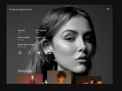 Fashion model portfolio fashion model fashion web ux ui uidesign website portfolio design portfolio