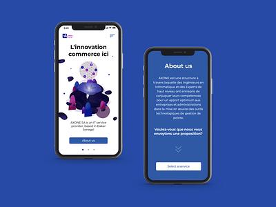 IT Agency webpage design - Mobile version webpage agency agency website illustration ui uidesign website