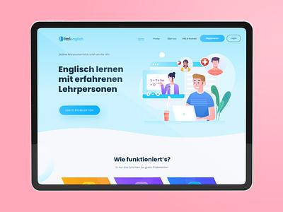 English School - Langing Page plataform design illustration ux web uidesign ui website landing page design
