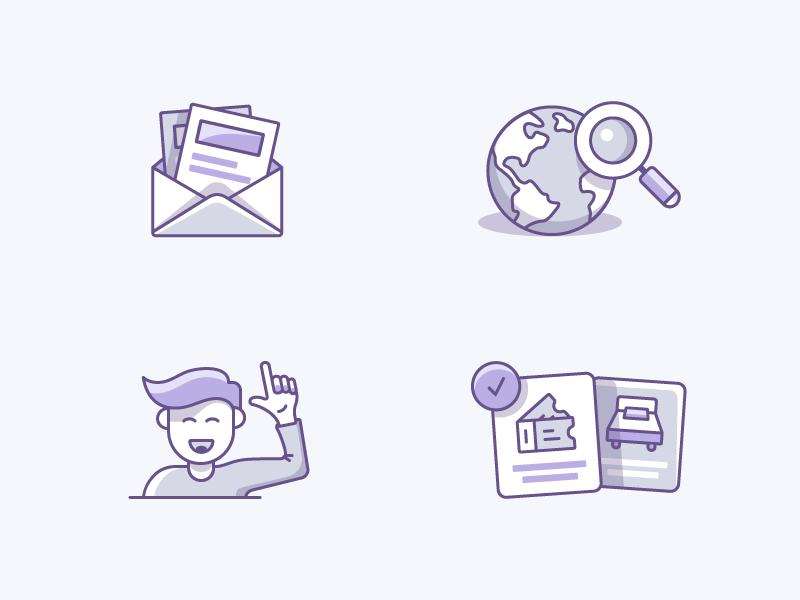 Alternative Colour Scheme newsletter discover email world character icon illustrator illustration