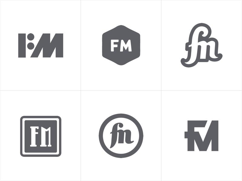 FM - Logo Exploration monogram illustrator branding vector fashion exploration logotype logo