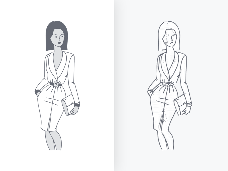FM® Business iconography icon brand illustrator sketch business character personas model fashion branding illustration