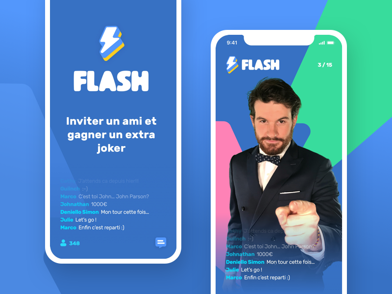 Flashbreak Mobile App game mobile iphone ios vector logo exploration app illustrator branding logotype