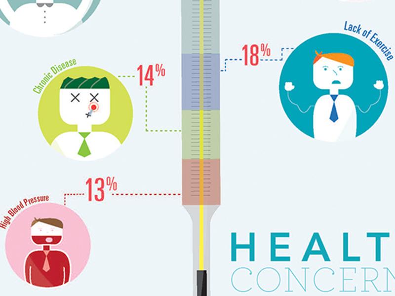 Infographic Exercise infographic illustration health design