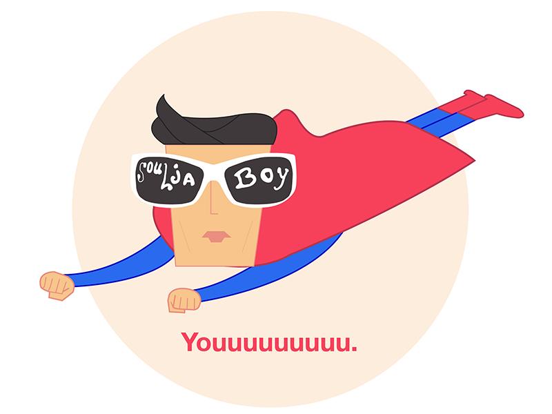 Superman That Oh! superman illustration nostalgia rap throwback