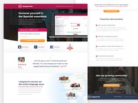 Languencia Spanish Lessons Landing Page spanish language cro conversion rate optimization landing page learning