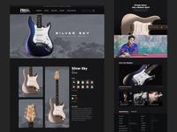 PRS (John Mayer) Silver Sky Product Page music dark landingpage lander design ux typography ui web mayer prs guitar