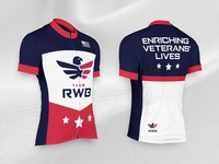 Team RWB Cycling Jersey branding apparel design apparel sports cycling jersey patriotic