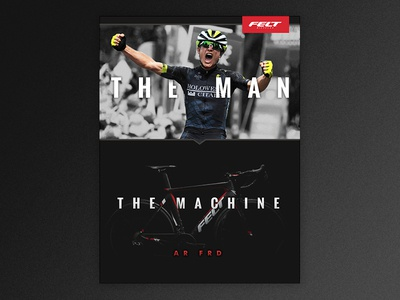 Print Ad Experiments sports athlete bike bicycle road cycling