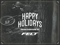 Felt Bicycles - Happy Holidays