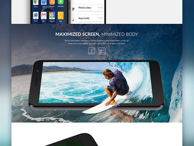 Alcatel 1 Product Page Snippet design surf photoshop mobile web