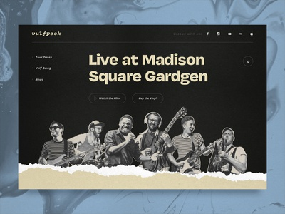 Vulfpeck Homepage Exploration