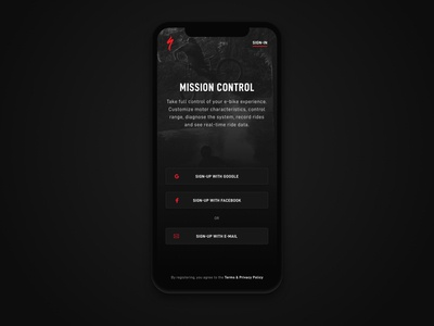 Daily UI 001 - Specialized App Sign-up