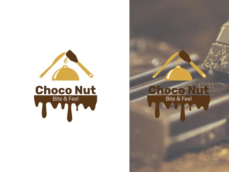 Choco Nut Chocolate Company Logo choco nut logo nut logo chocolate logo choco logo choco nut nut choco typography illustration icon logo logotype print design logo design app design brand identity brand design