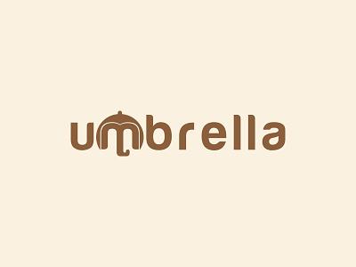 Umbrella Logo umbrella academy umbrella lettering rain logo umbrella logo letter logo modern logo icon animation logo typography logo design brand identity brand design