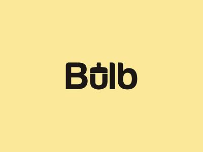 Bulb Logo light logo bulb logo light bulb wordmark logo lettermark modern logo logotype print design logo typography logo design brand identity brand design