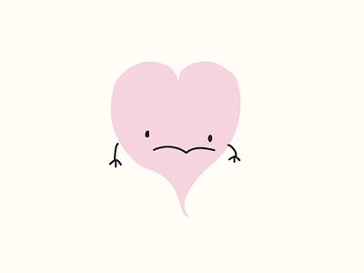 Illustration of Sad Heart vector illustration