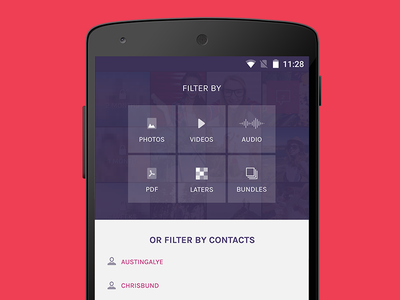 Filters filter android app design