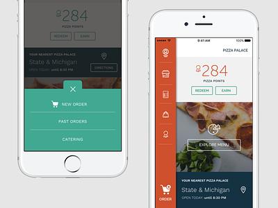 iOS - Navigation Sketch for ordering app restaurant ordering mobile app ios
