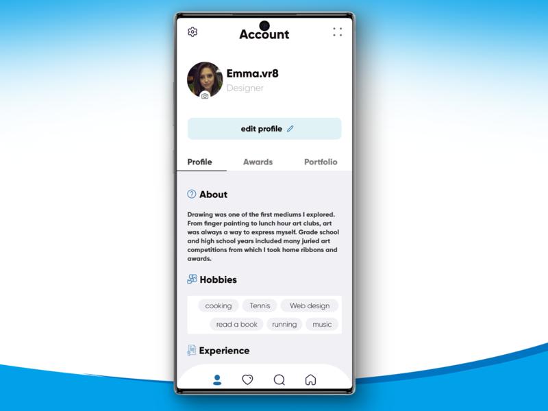 account profile profile design profile page profiles profile account