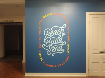 Mission statement mural for Sojourn Community Church