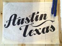 Austin handlettered