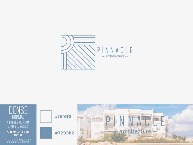 Pinnacle pinnacle architecture vector logo illustration identity design branding
