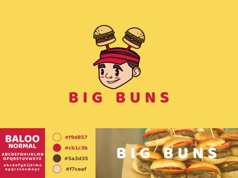 Big Buns fast food fastfood food logo vector illustration identity design branding