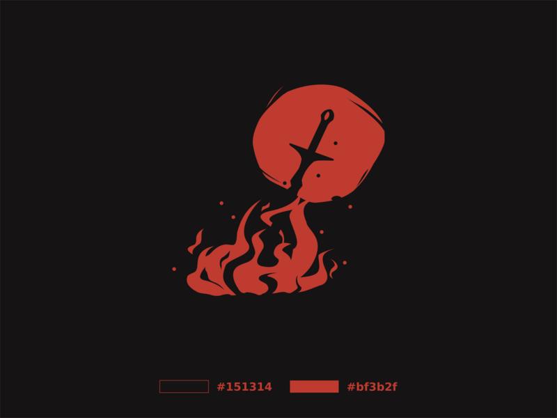 Alventoor darksouls videogame game vector logo illustration identity design branding