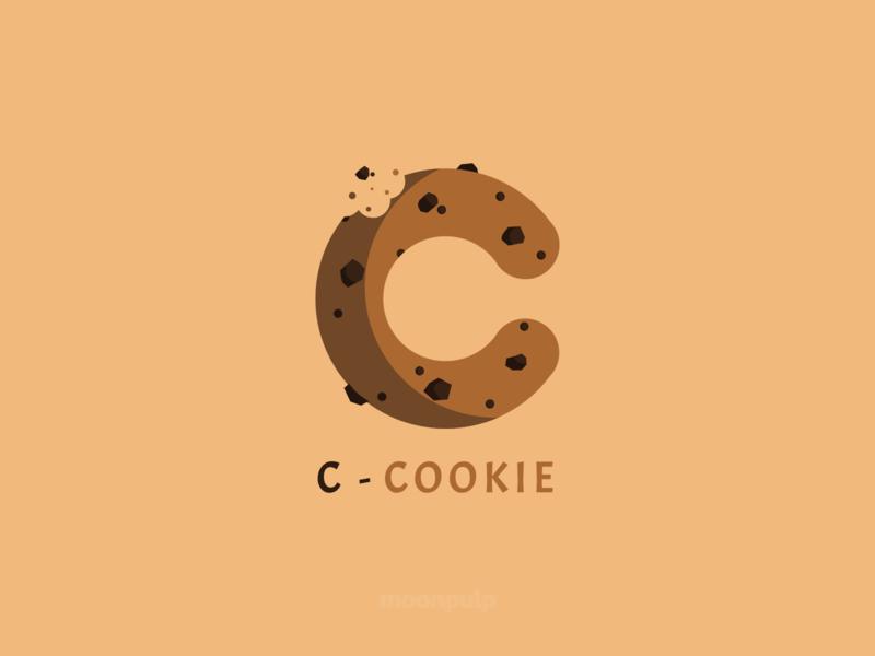 C - Cookie letter food cookie vector logo illustration identity design branding