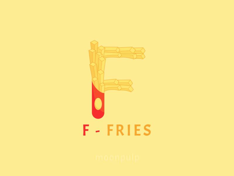 F - Fries letterlogo branding design identity illustration vector logo food fries letter